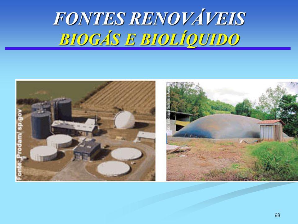 98 FONTES RENOVÁVEIS BIOGÁS E BIOLÍQUIDO
