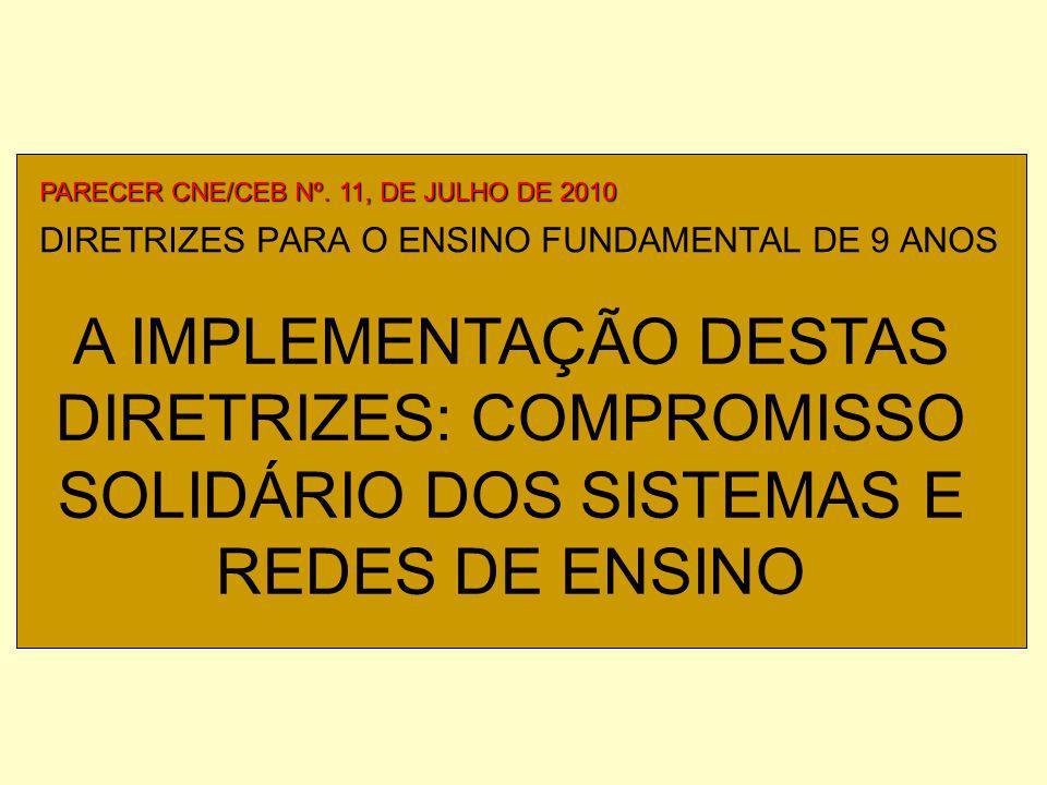 DIRETRIZES PARA O ENSINO FUNDAMENTAL DE 9 ANOS PARECER CNE/CEB Nº.