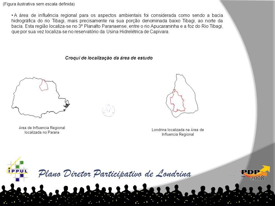 Plano Diretor Participativo de Londrina A área de influência regional para os aspectos ambientais foi considerada como sendo a bacia hidrográfica do r