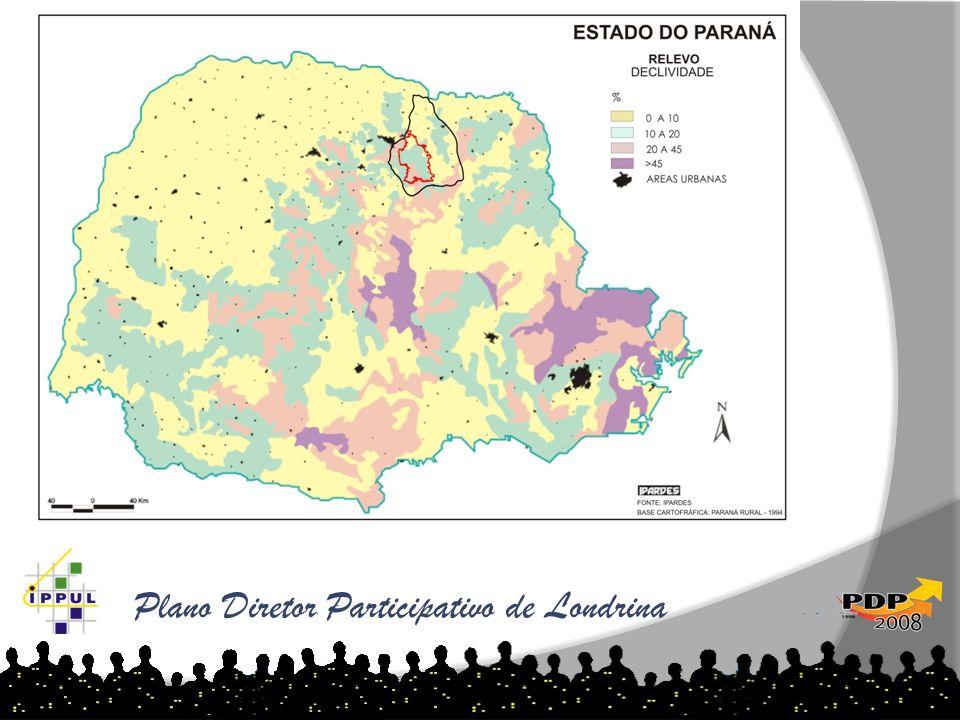 Plano Diretor Participativo de Londrina As tabelas abaixo demonstram o aumento de loteamentos por ano e região: