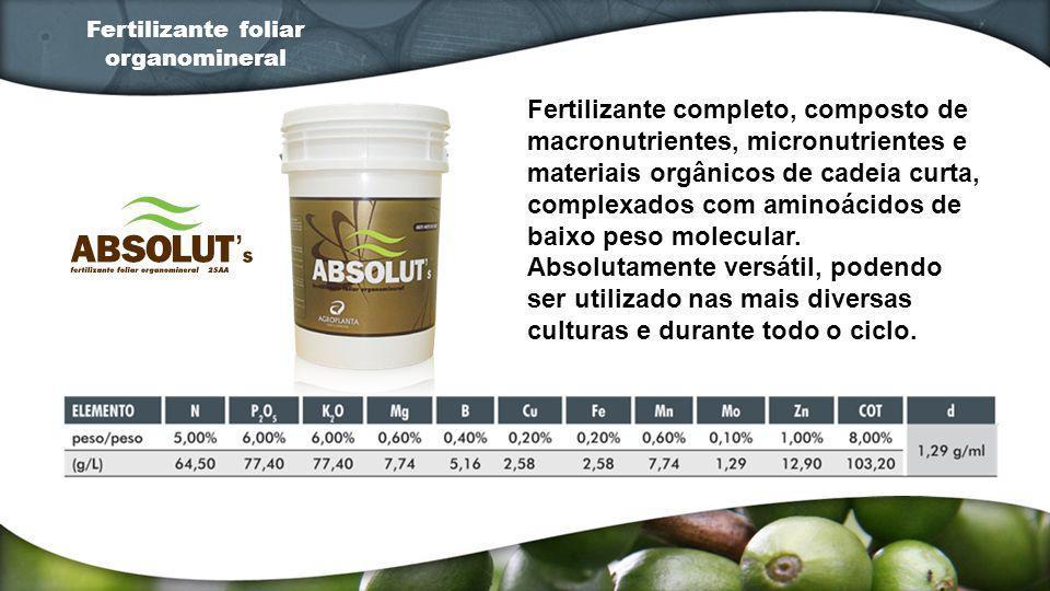 Fertilizante completo, composto de macronutrientes, micronutrientes e materiais orgânicos de cadeia curta, complexados com aminoácidos de baixo peso m