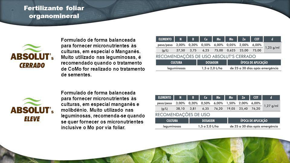 Formulado de forma balanceada para fornecer micronutrientes às culturas, em especial o Manganês. Muito utilizado nas leguminosas, é recomendado quando
