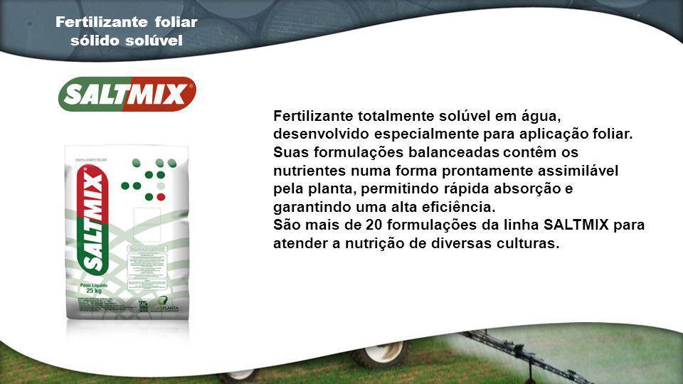 Fertilizante totalmente solúvel em água, desenvolvido especialmente para aplicação foliar. Suas formulações balanceadas contêm os nutrientes numa form
