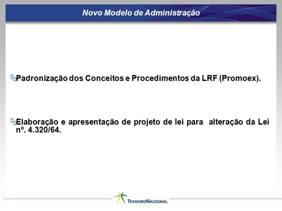 Padronização dos Conceitos e Procedimentos da LRF (Promoex).