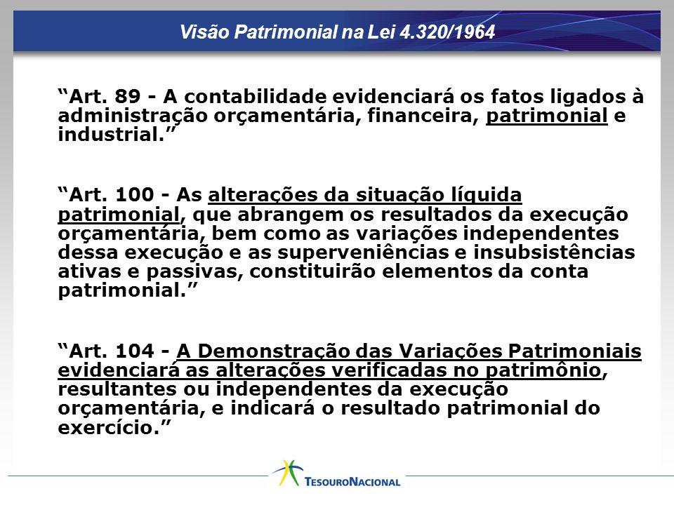 Visão Patrimonial na Lei 4.320/1964 Art.