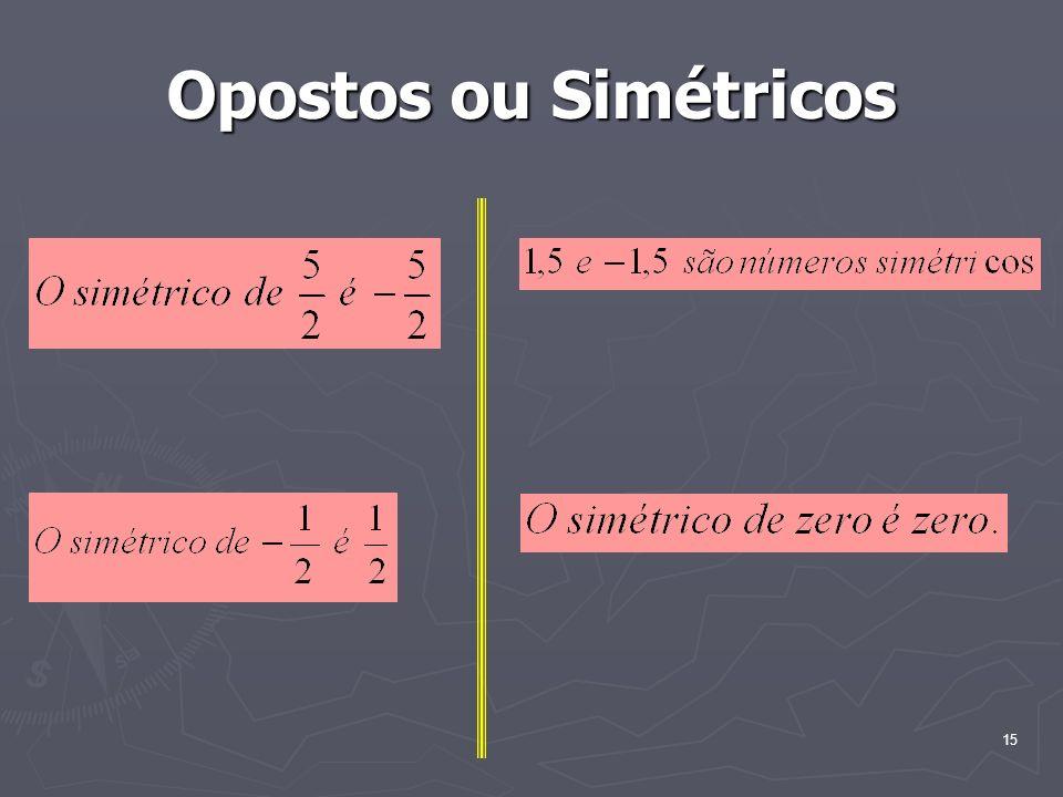15 Opostos ou Simétricos