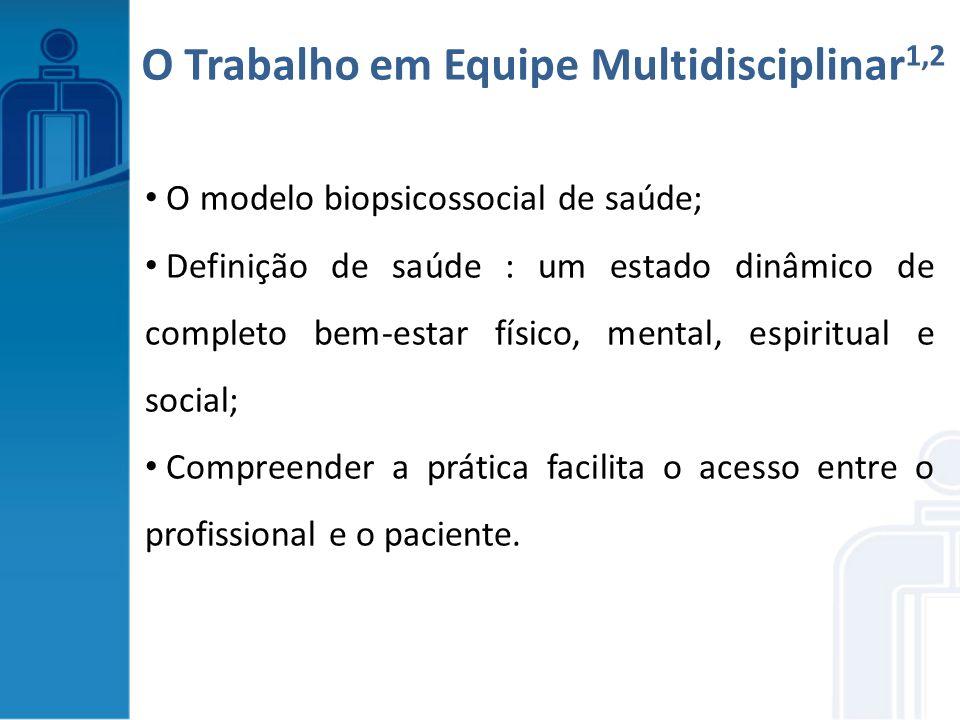 O modelo biopsicossocial de saúde; Definição de saúde : um estado dinâmico de completo bem-estar físico, mental, espiritual e social; Compreender a pr