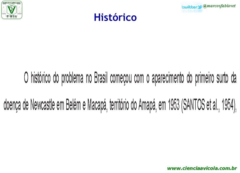 www.cienciaavicola.com.br @marcosfabiovet Histórico