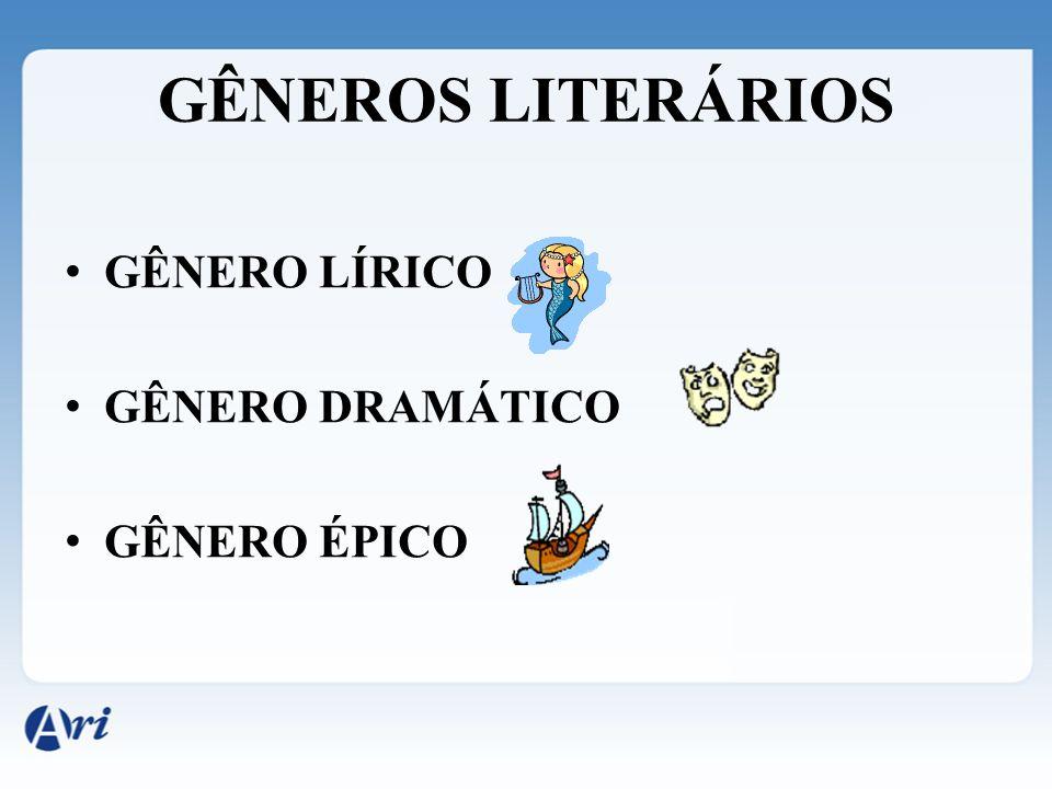 GÊNEROS LITERÁRIOS G ÊNERO LÍRICO G ÊNERO DRAMÁTICO G ÊNERO ÉPICO