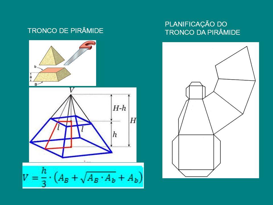 TRONCO DE PIRÂMIDE PLANIFICAÇÃO DO TRONCO DA PIRÂMIDE