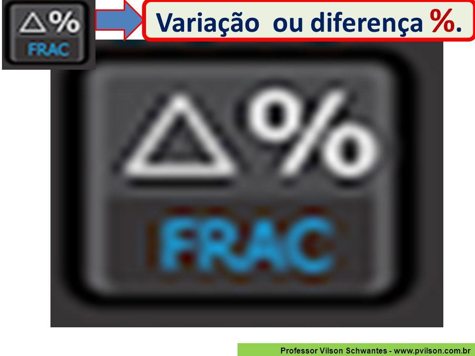 Variação ou diferença %.