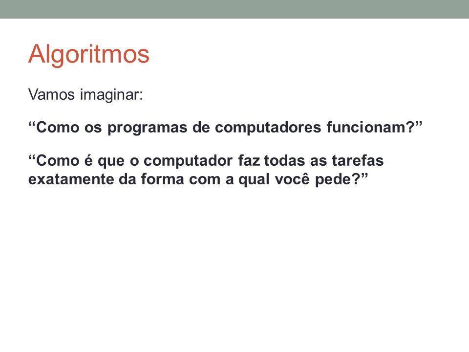 Comandos Básicos do Algoritmo Comandos de Entrada e Saída São utilizados para obter a entrada ou fornecer a saída ide informações ao usuário durante a execução do algoritmo.