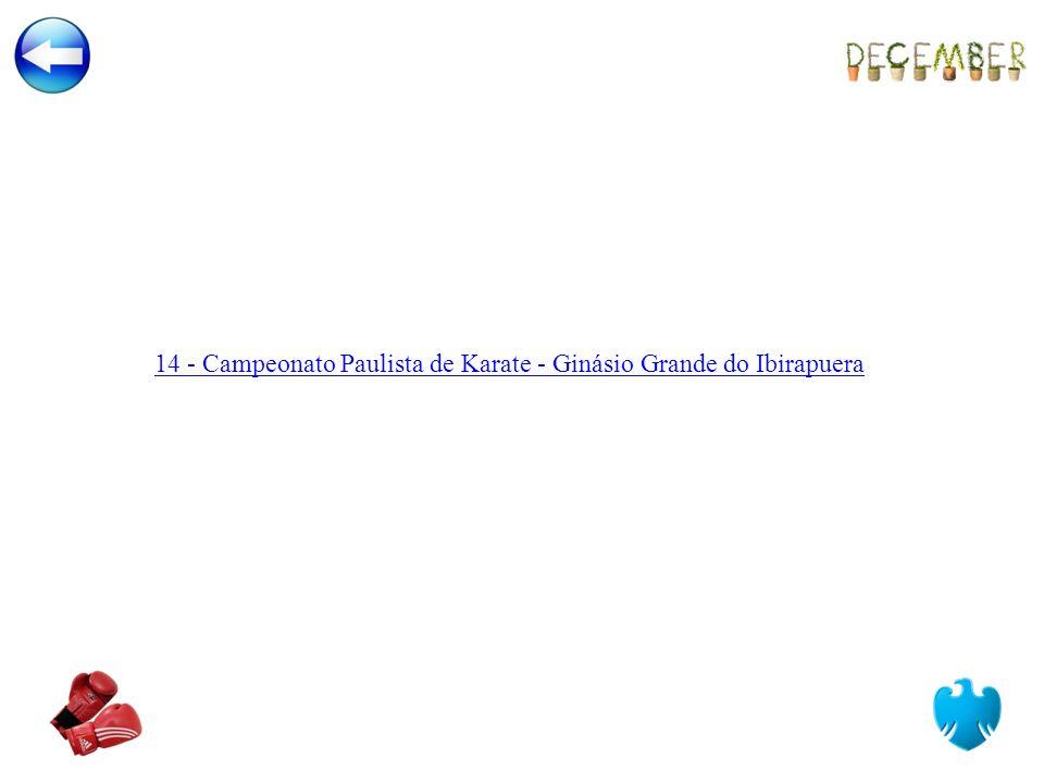 14 - Campeonato Paulista de Karate - Ginásio Grande do Ibirapuera