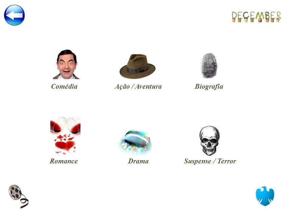 Romance Ação / Aventura Drama Comédia Biografia Suspense / Terror