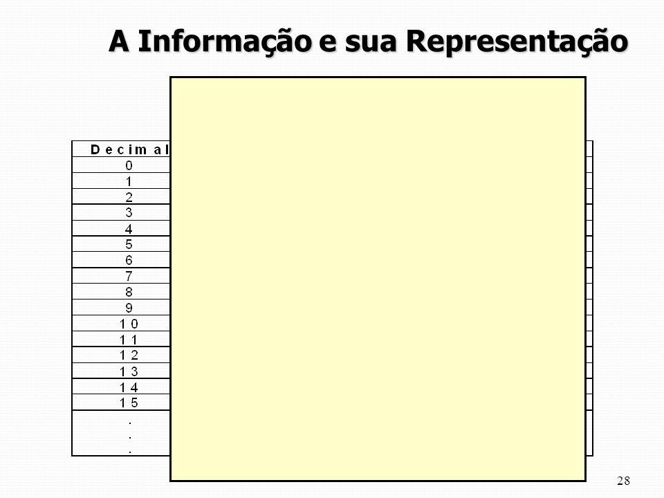 28 A Informação e sua Representação