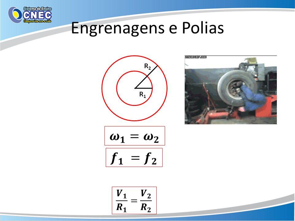 Engrenagens e Polias R2R2 R1R1