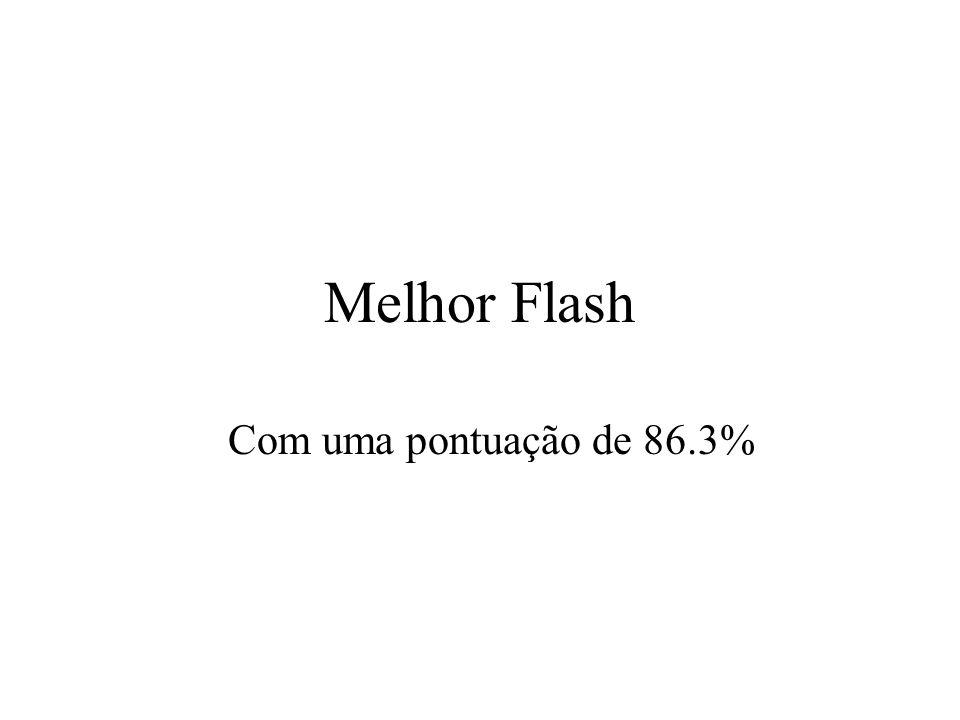 Melhor Flash Com uma pontuação de 86.3%