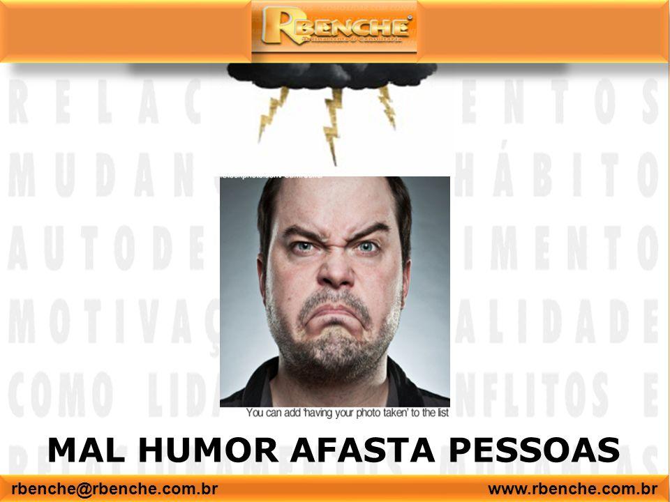 MAL HUMOR AFASTA PESSOAS