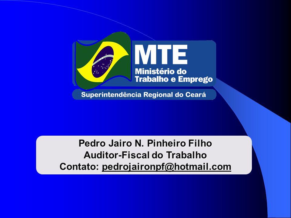 Pedro Jairo N. Pinheiro Filho Auditor-Fiscal do Trabalho Contato: pedrojaironpf@hotmail.com
