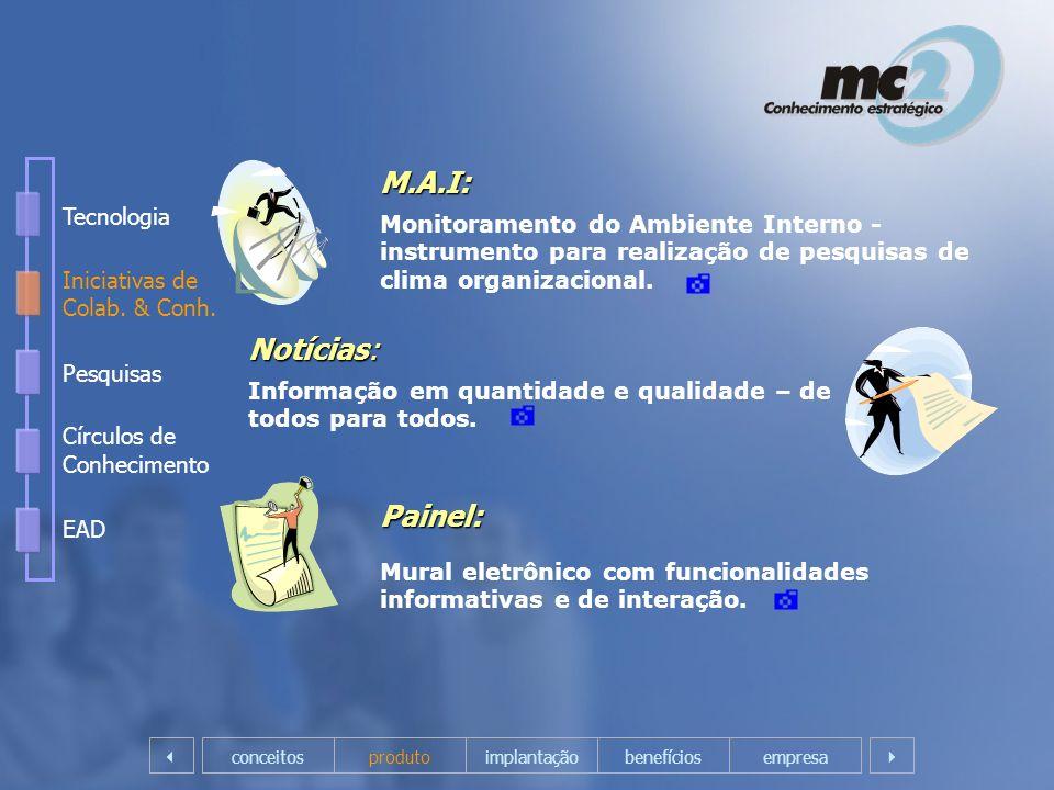 Notícias: Informação em quantidade e qualidade – de todos para todos. empresaconceitosprodutoimplantação M.A.I: Monitoramento do Ambiente Interno - in