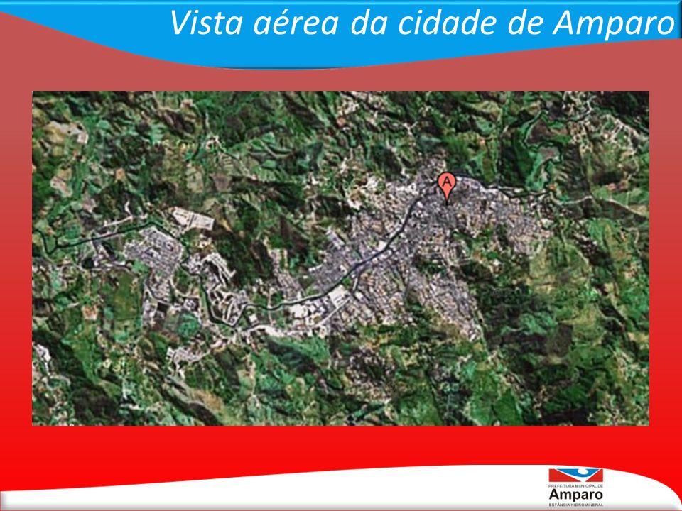 Vista aérea da cidade de Amparo