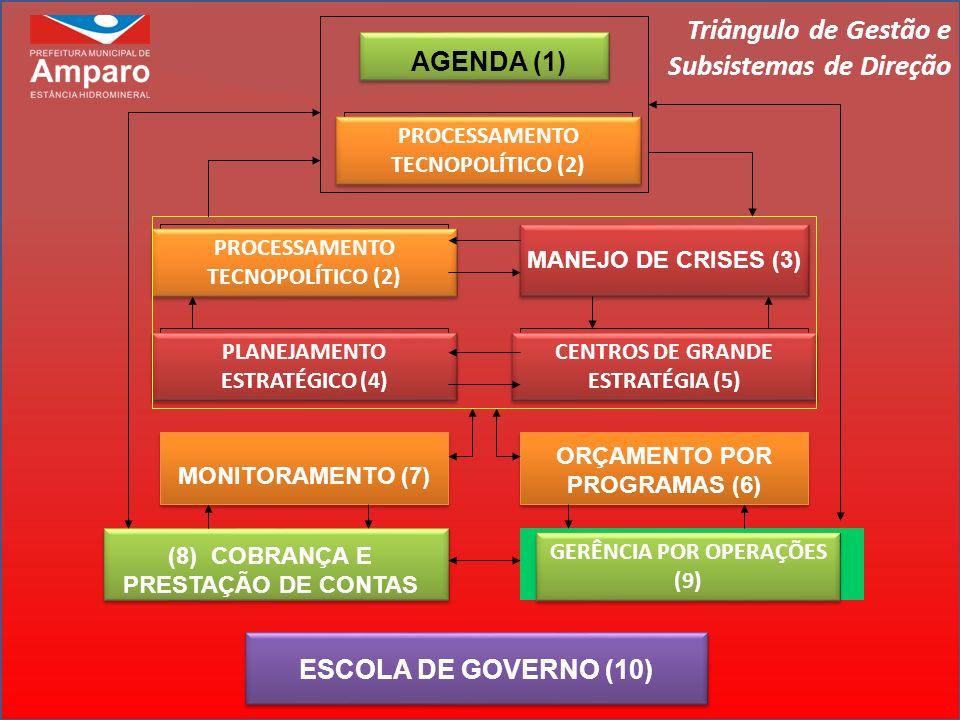 AGENDA (1) PROCESSAMENTO TECNOPOLÍTICO (2) MANEJO DE CRISES (3) PLANEJAMENTO ESTRATÉGICO (4) CENTROS DE GRANDE ESTRATÉGIA (5) MONITORAMENTO (7) ORÇAME