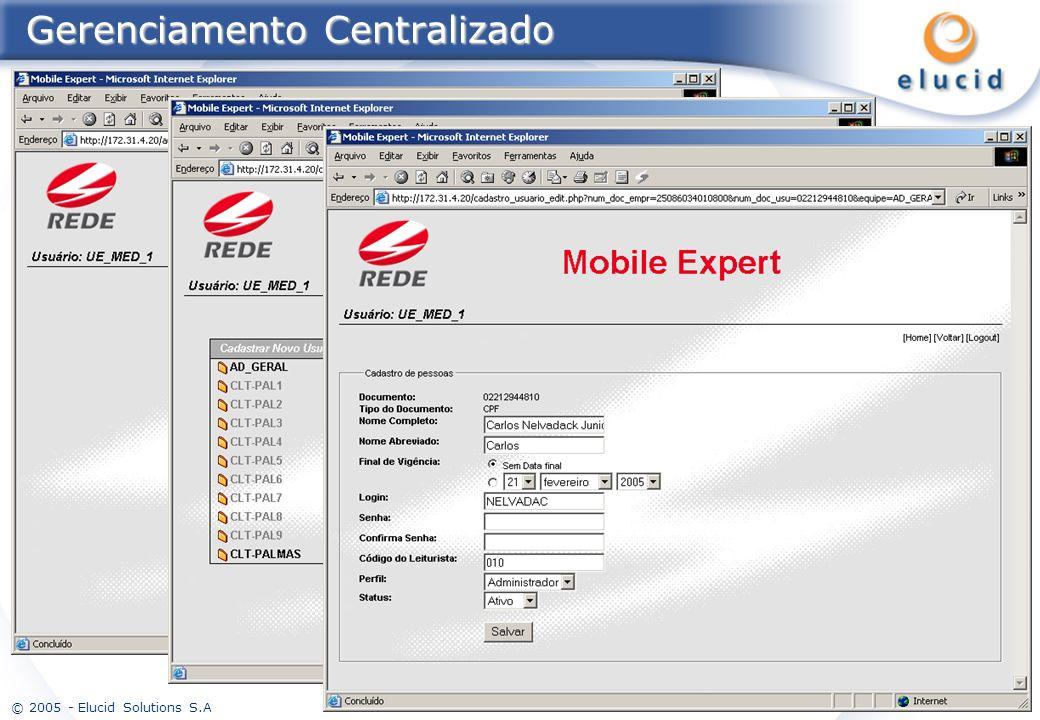 © 2005 - Elucid Solutions S.A 15 Gerenciamento Centralizado