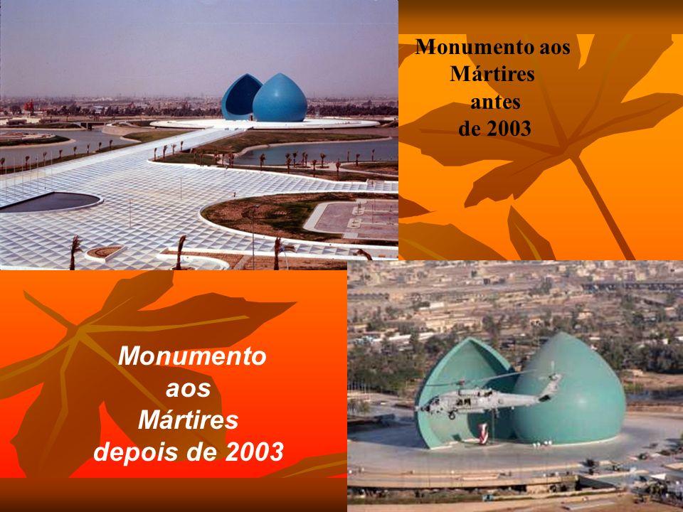 Monumento aos Mártires depois de 2003 Monumento aos Mártires antes de 2003