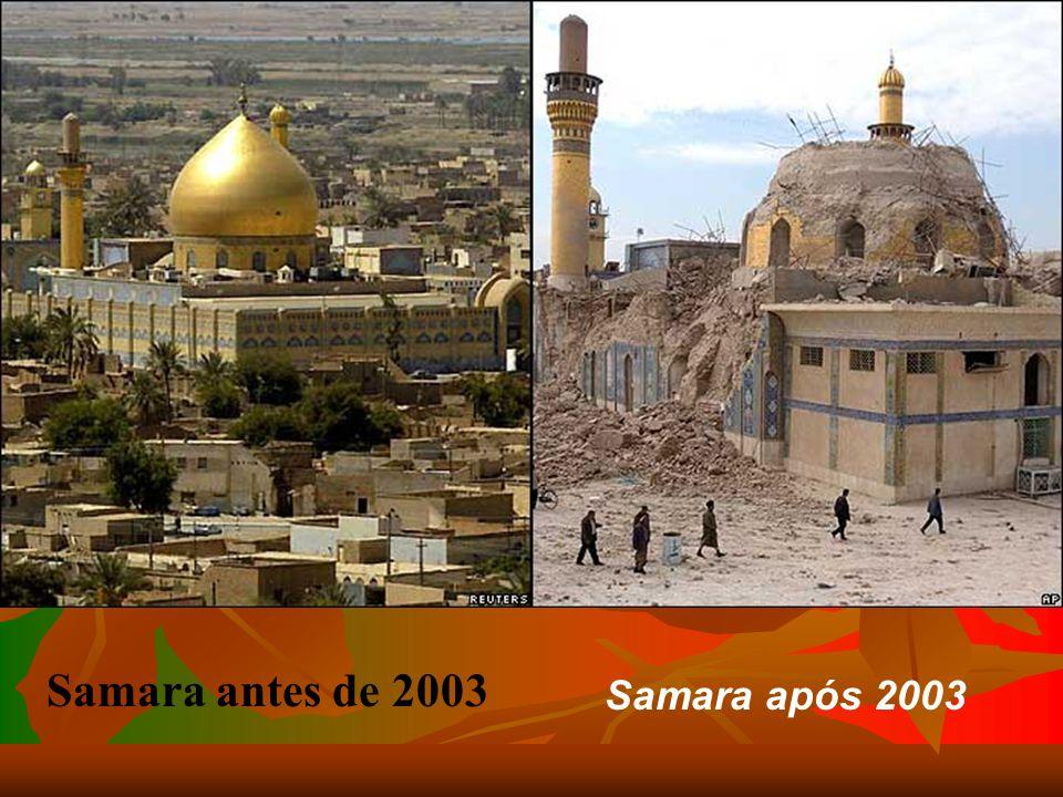 Rua Al-Mutanabi até 2003 Rua Al-Mutanabi após acção libertadora em 2003