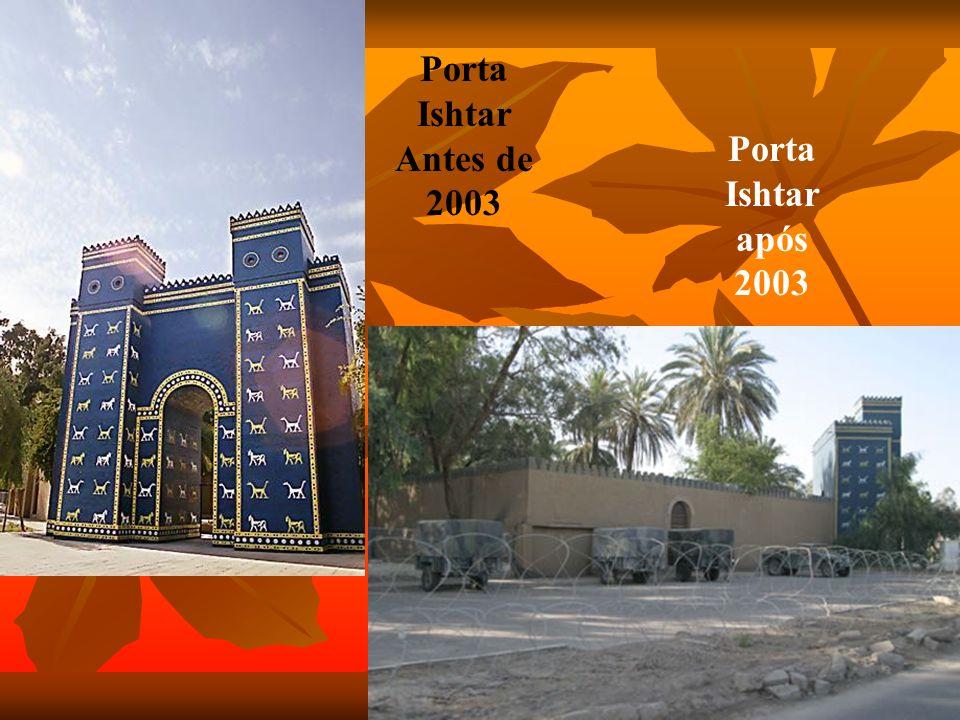 Babylonia até 2003 Ruinas de Babylonia após 2003