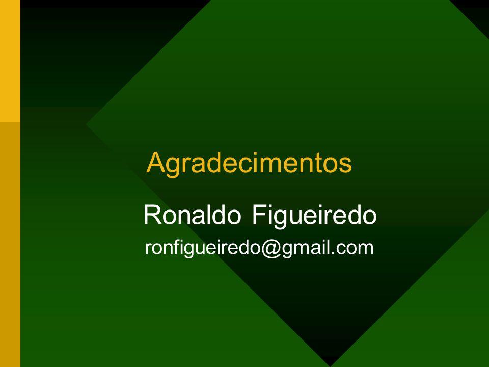 Agradecimentos Ronaldo Figueiredo ronfigueiredo@gmail.com