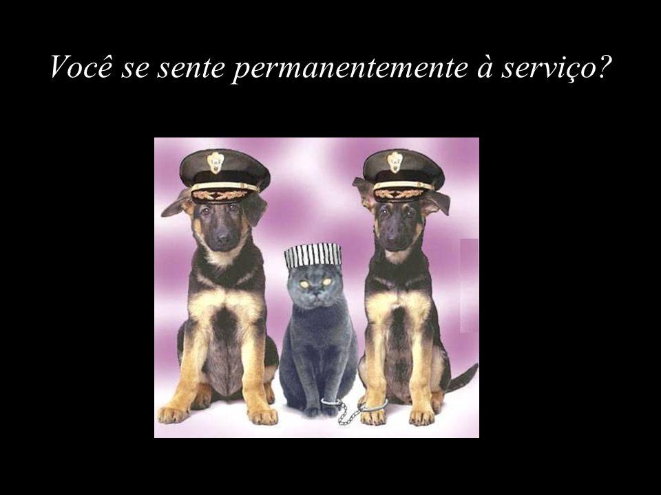 Você se sente permanentemente à serviço?