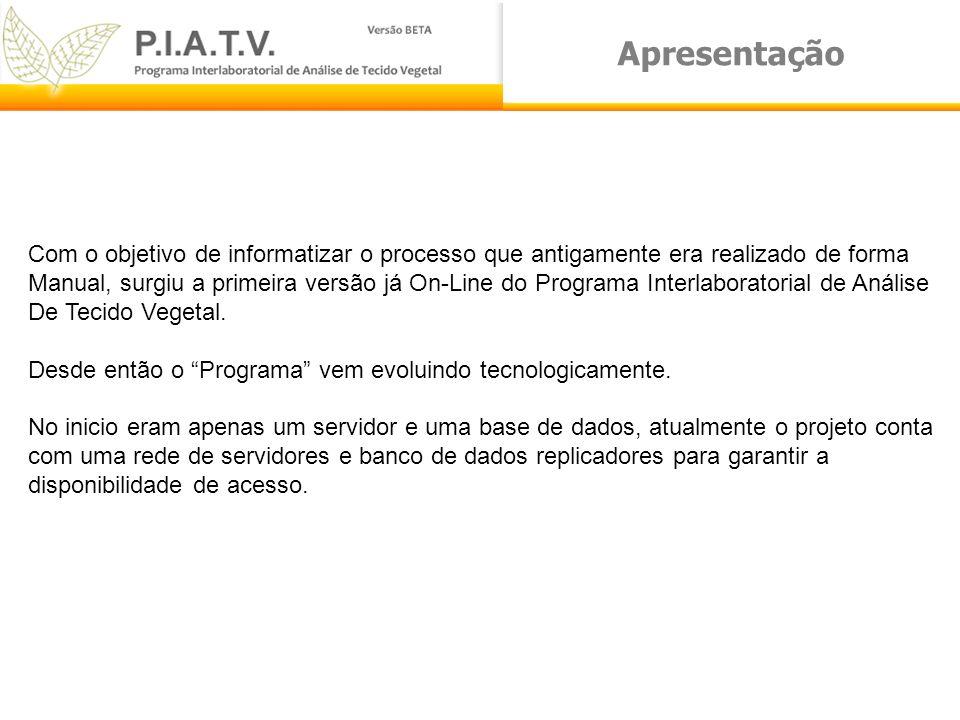 Apresentação Em busca de novas tecnologias, que possam facilitar o entendimento dos recursos e padronizar o acesso igual a todos os laboratórios, iniciamos o desenvolvimento do PIATV para Windows.