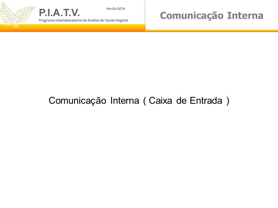 Comunicação Interna Comunicação Interna ( Caixa de Entrada )