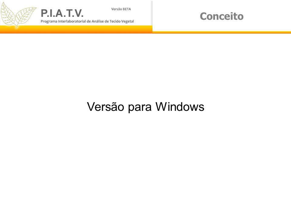 Conceito Versão para Windows