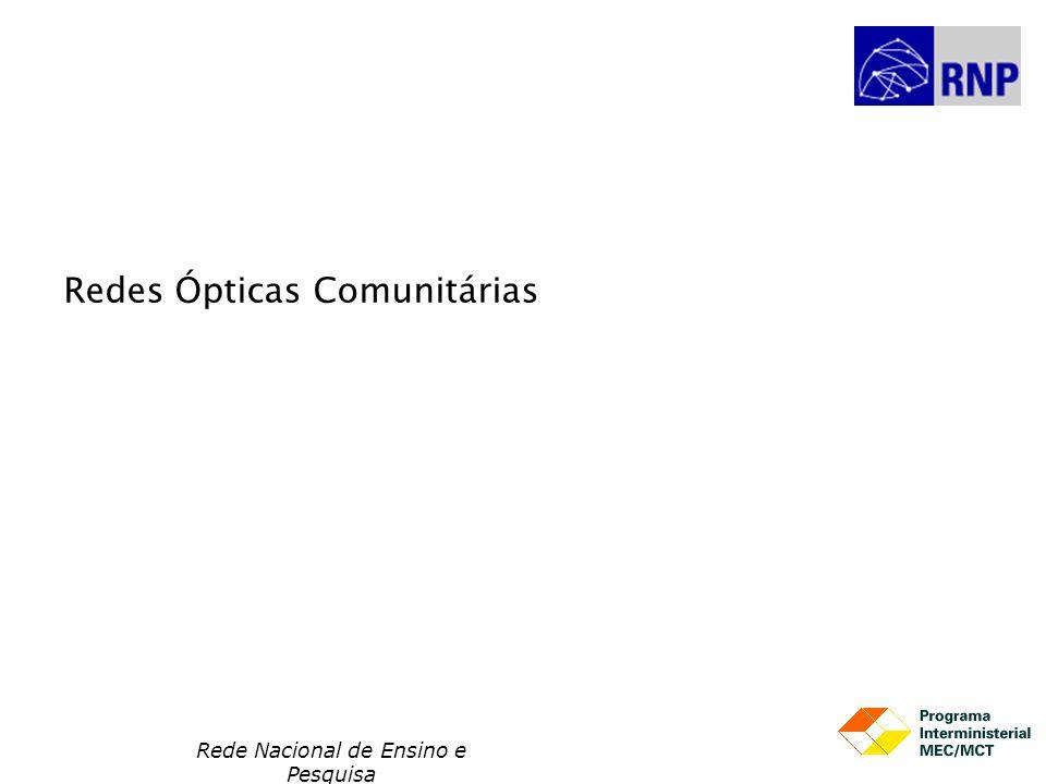 Rede Nacional de Ensino e Pesquisa Redes Ópticas Comunitárias