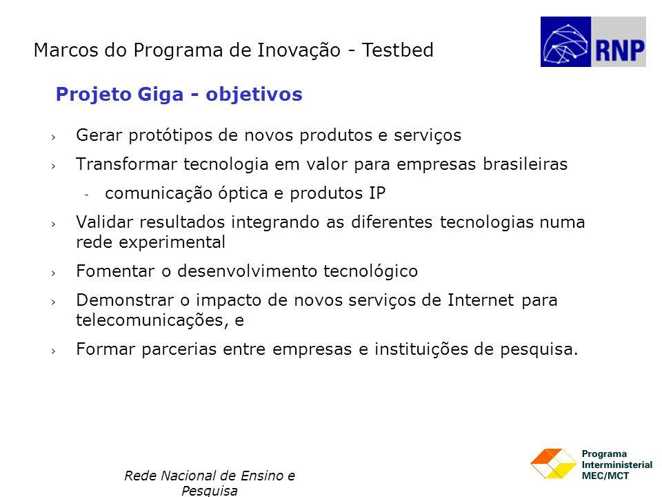 Rede Nacional de Ensino e Pesquisa Gerar protótipos de novos produtos e serviços Transformar tecnologia em valor para empresas brasileiras  comunicaç