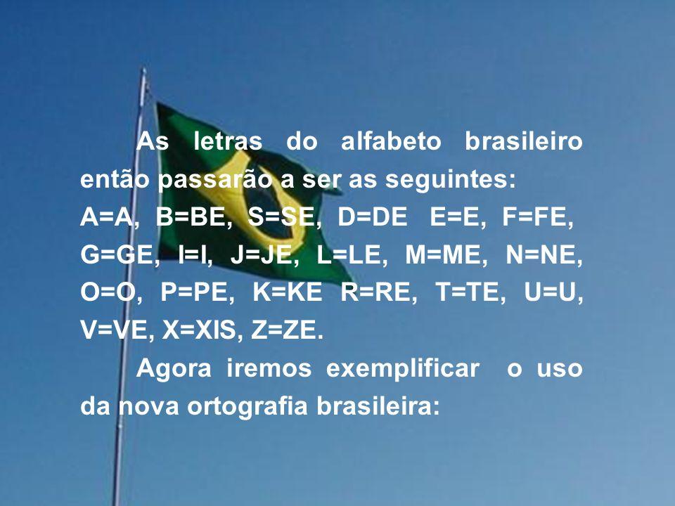 Abaixo iremos descrever e sugerir algumas modificações para tornar bem mais fácil a escrita brasileira, lembrando que as alterações serão apenas no modo de escrever as palavras, nada havendo quanto às questões gramaticais, pontuação, ou acentuação.