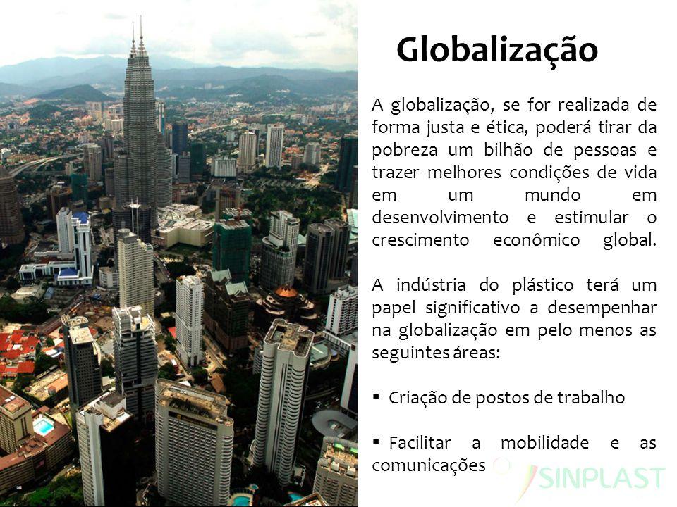 Globalização A globalização, se for realizada de forma justa e ética, poderá tirar da pobreza um bilhão de pessoas e trazer melhores condições de vida