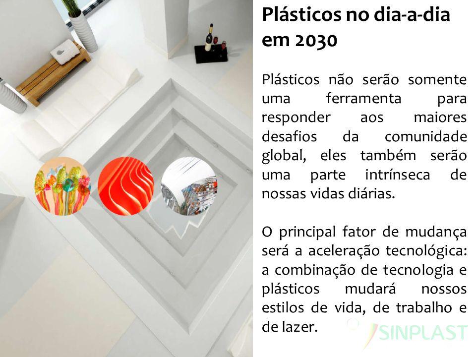 Plásticos no dia-a-dia em 2030 Plásticos não serão somente uma ferramenta para responder aos maiores desafios da comunidade global, eles também serão