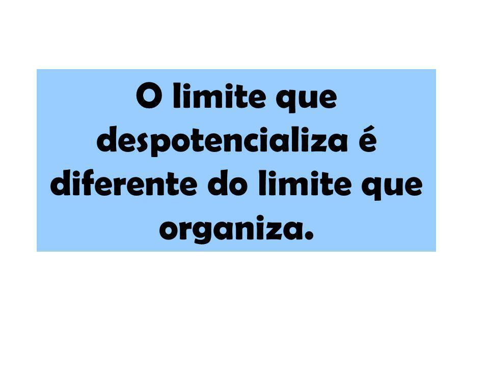 O limite que despotencializa é diferente do limite que organiza.