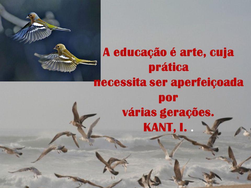 A educação é arte, cuja prática necessita ser aperfeiçoada por várias gerações. KANT, I..
