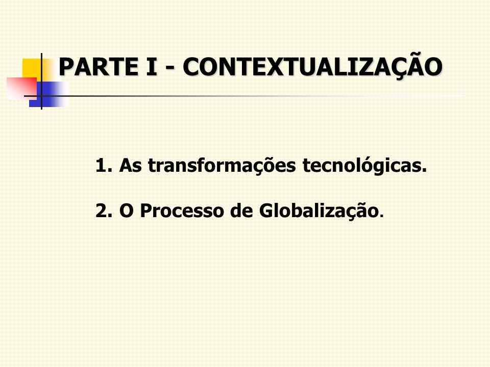 PARTE I - CONTEXTUALIZAÇÃO 1.As transformações tecnológicas. 2.O Processo de Globalização.