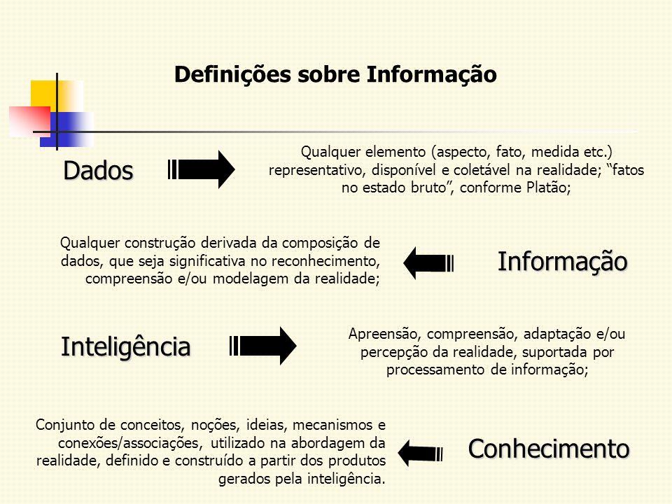 Conhecimento Conjunto de conceitos, noções, ideias, mecanismos e conexões/associações, utilizado na abordagem da realidade, definido e construído a pa
