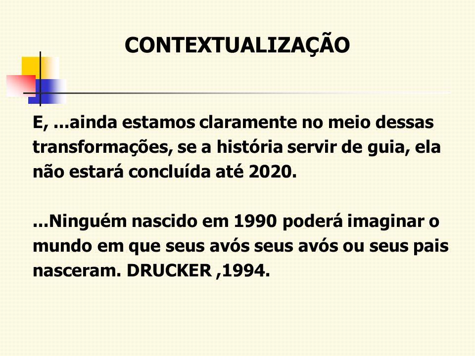 CONTEXTUALIZAÇÃO E,...ainda estamos claramente no meio dessas transformações, se a história servir de guia, ela não estará concluída até 2020....Ningu