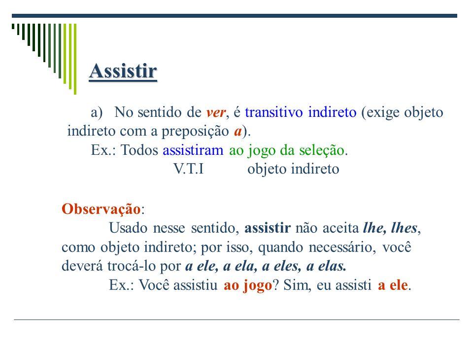 Aspirar a)No sentido de respirar, sorver (perfume, ar), é transitivo direto.
