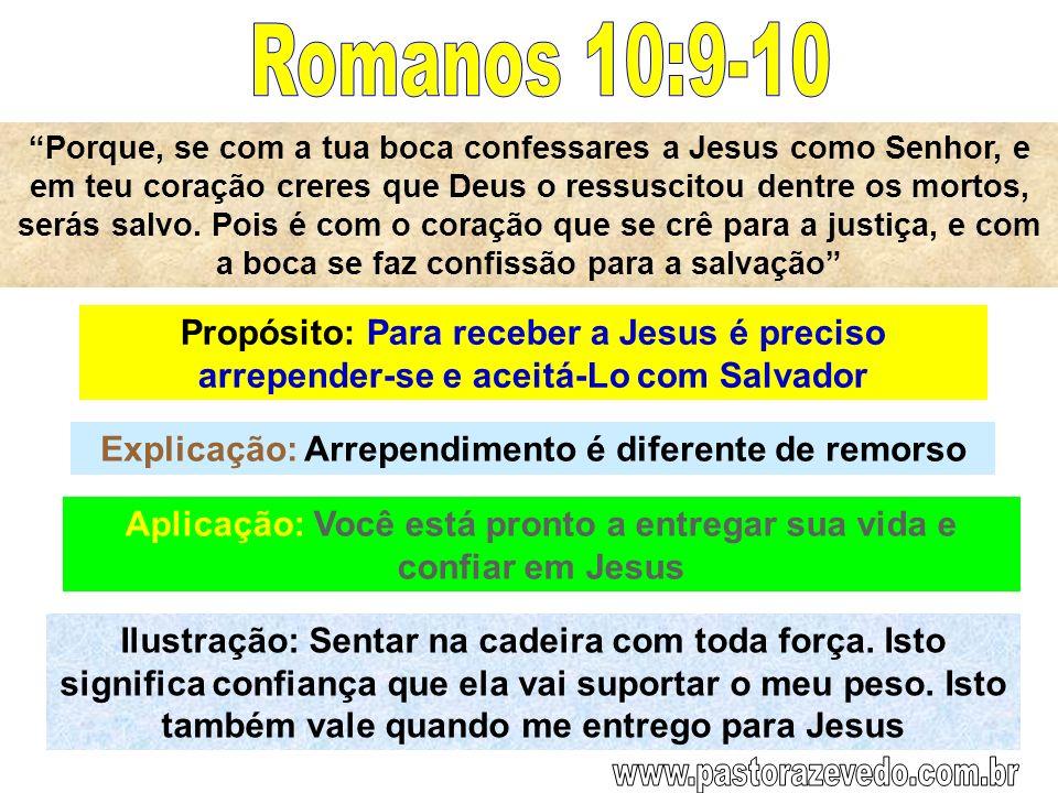 Porque, se com a tua boca confessares a Jesus como Senhor, e em teu coração creres que Deus o ressuscitou dentre os mortos, serás salvo. Pois é com o