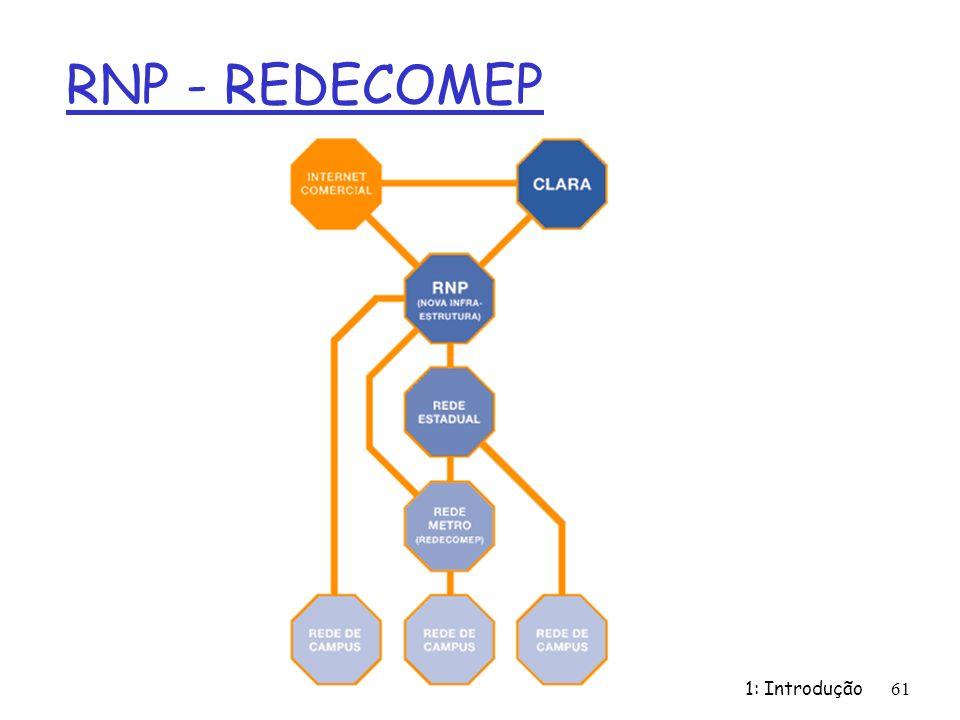 RNP - REDECOMEP 1: Introdução 61