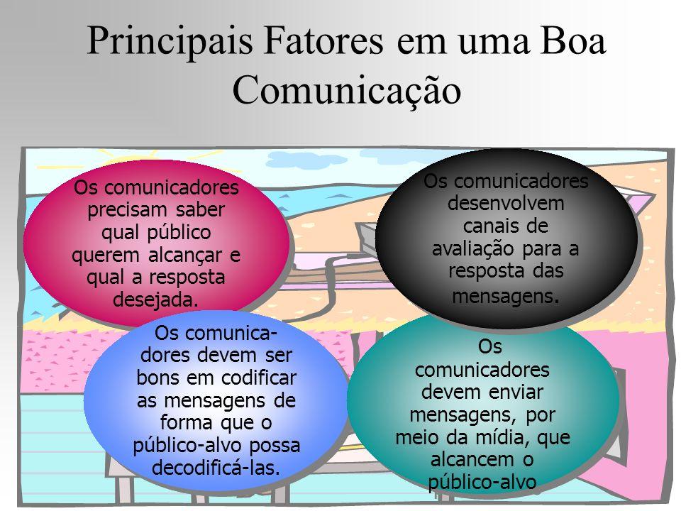 Os comunicadores precisam saber qual público querem alcançar e qual a resposta desejada. Os comunica- dores devem ser bons em codificar as mensagens d