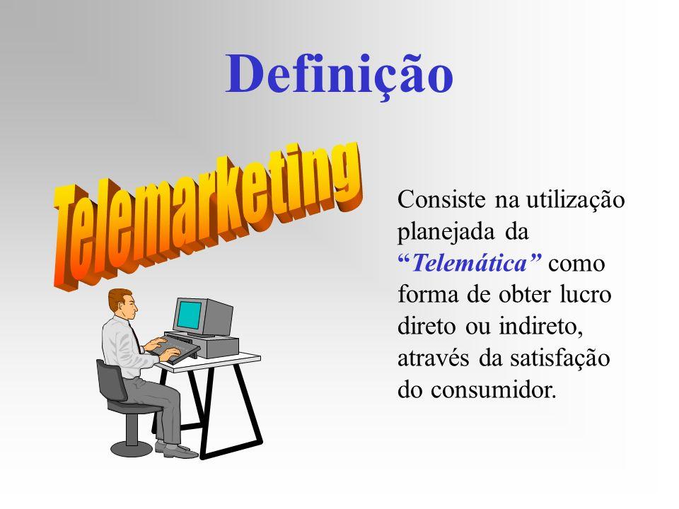 Definição Consiste na utilização planejada daTelemática como forma de obter lucro direto ou indireto, através da satisfação do consumidor.